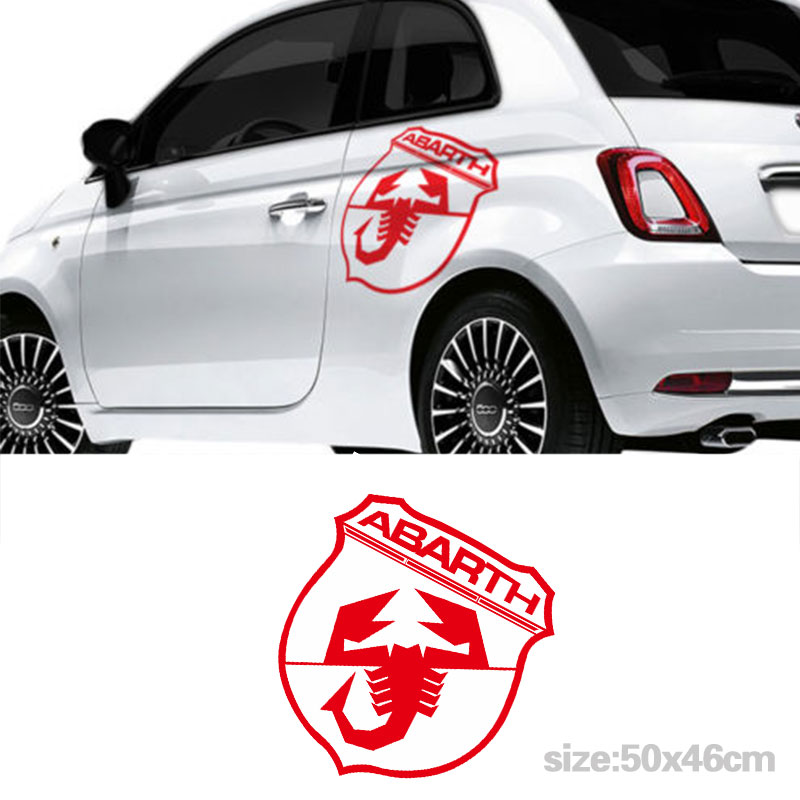 YONGXUN 2pcs for  Fiat 500 Abarth Side Car Large Decal Car Stickers Graphics Sticke DA-A45 2pcs yongxun stickers decal for alfa romeo 147 156 159 166 giulietta stripe body kit door handle guard sill da 432