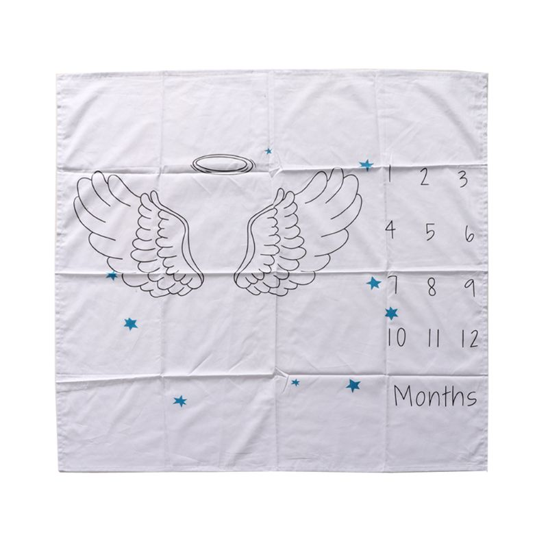 Newborn Baby Blanket Photos Background Photography Monthly Growth Milestone Numbers Props Stroller Cover