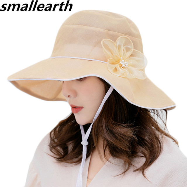 2a9dc120f US $7.55 16% OFF|Aliexpress.com : Buy Summer Hats for Women Sun Hat  Foldable Cotton Hats Casual Wide Brim Sunshade Cap Female Spring Outdoor  Sun Visor ...
