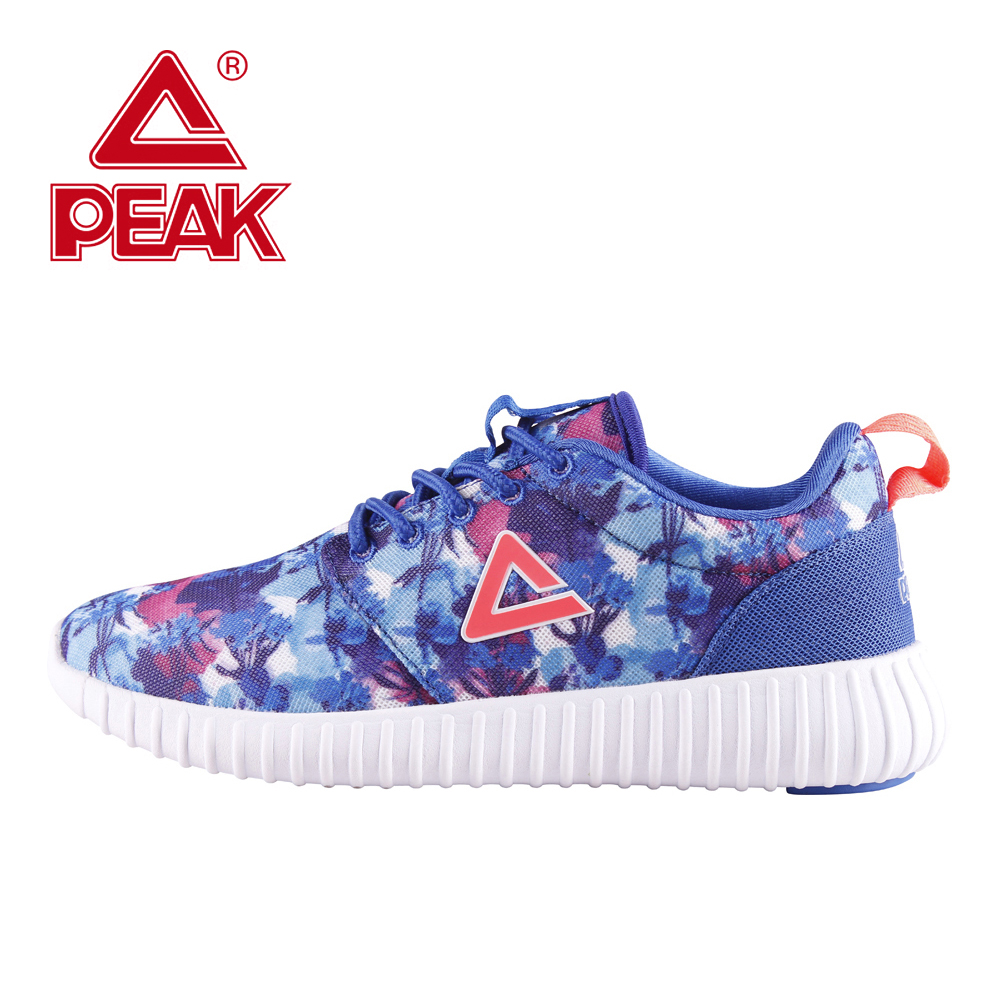 PEAK Women Running Shoes Girls Super Light-Weight Sport Running Sneakers Woman Print Athletic Shoes Running Walking Gym Fitness peak sport men outdoor bas basketball shoes medium cut breathable comfortable revolve tech sneakers athletic training boots