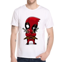 MOE CERF Newest Men's Deadpool T shirt Mens Marvel Superhero Deadpool Tops Funny Hipster Cool Anime Tops Tee L1-M-2
