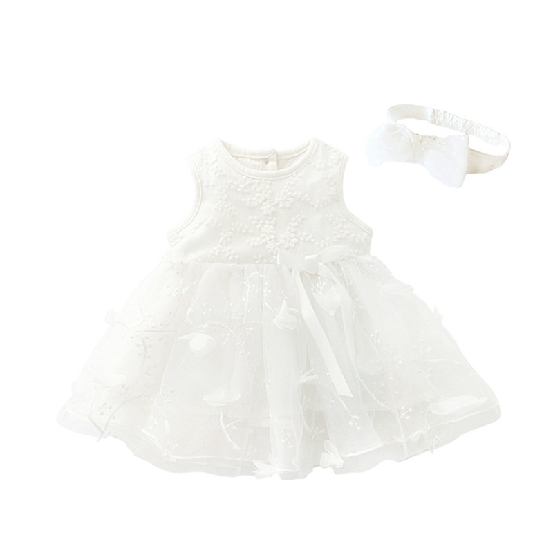 Baby Girls Dresses Children Tutu Princess Bowknot Sleeveless Flower