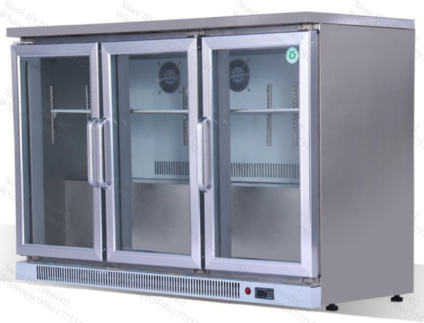 Kleiner Kühlschrank Ohne Gefrierfach Mit Glastür : Edelstahl kühlschrank push und ziehen glastür gerade kühlung