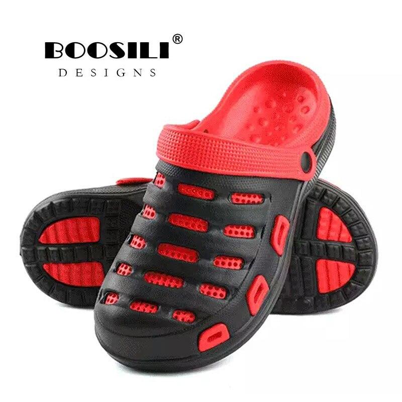 2019 Erkek Ayakkabi Mens Leather Sandal Mens Garden Shoes Summer Sandals High Quality Breathable Clogs Lightweight Big Size Men's Shoes Men's Sandals