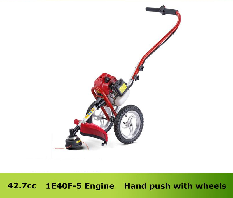 цена Professional garden tool 43cc Gasoline Hand Push Wheeled Brush Cutter portable cutter saw