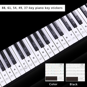 البيانو ملصقا شفافة البيانو ملصق لوحة المفاتيح 54/61/88 مفتاح لوحة المفاتيح الإلكترونية 88 مفتاح البيانو ستاف ملاحظة ملصق ل البيانو مفاتيح