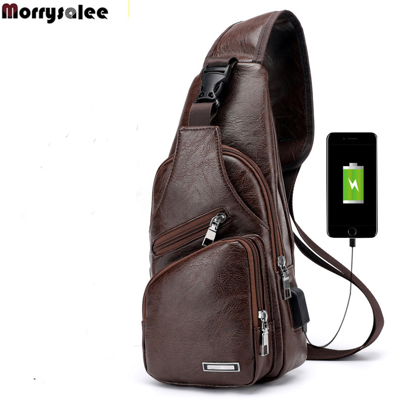 Crossbody Bags USB Chest Bag Designer Messenger Bag Leather Shoulder Bags Diagonal Package Back Pack Travel