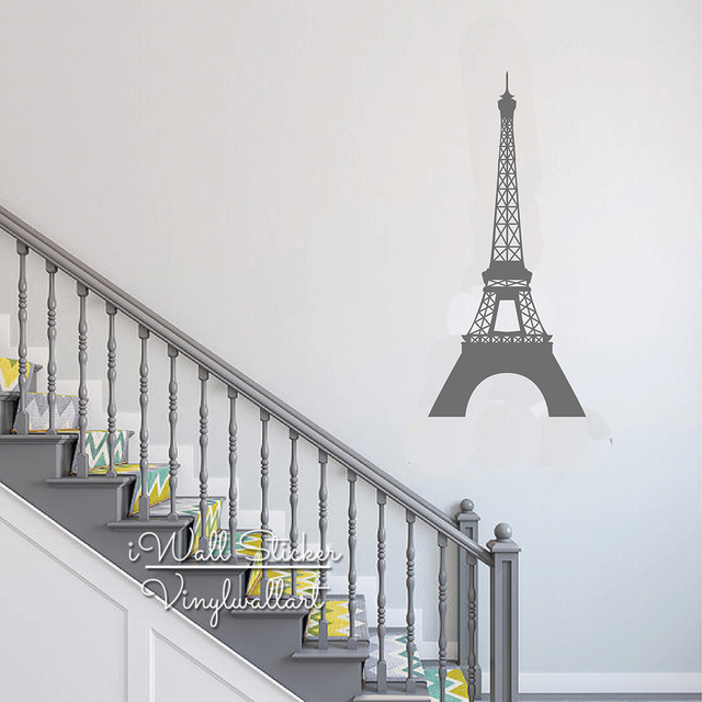Pairs Tower Wall Sticker Modern Eiffel Tower Wall Decals Modern Tower DIY  Easy Wall Art Removable