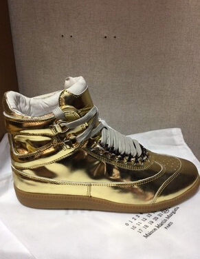 Maison Martin Margiela Sneakers 2015 newest fashion men mmm Silver gold  leisure Sneakers 2ab262019bbd