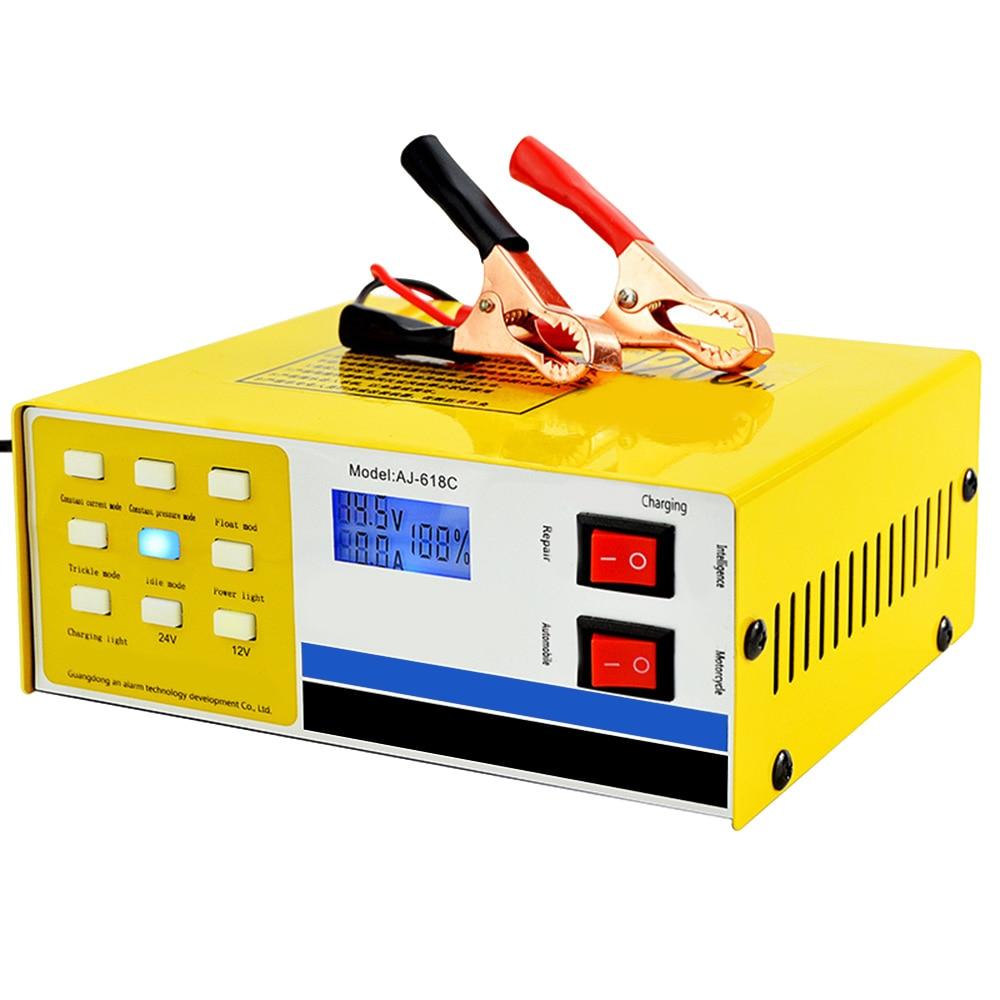 250V 12/24V 200AH Smart Pulse Repair Car Battery Charger ...