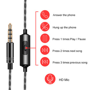 Image 3 - Süper bas kablolu kulaklık çift hareketli bobin kulaklık çift sürücüler kulaklık fone de ouvido Stereo kulaklık Redmi Umidigi MP3