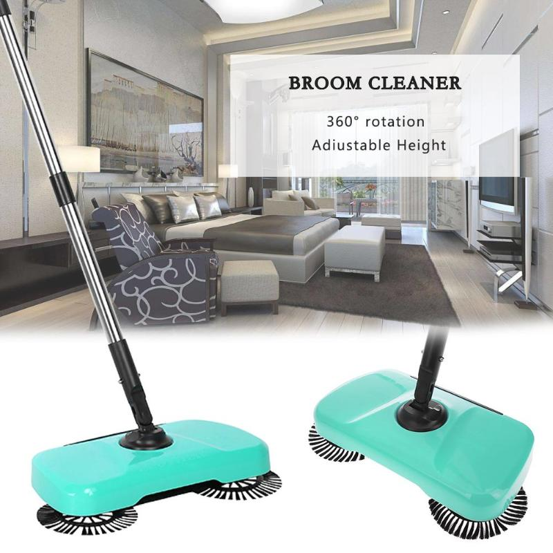 Stainless Steel Hand Push Sweeper mop ABS Vacuum Cleaner Automatic Rotation Broom Household Cleaning Tools Sweeping Machine new stainless steel sweeping machine push type hand push magic broom dustpan handle household cleaning package hand sweeper