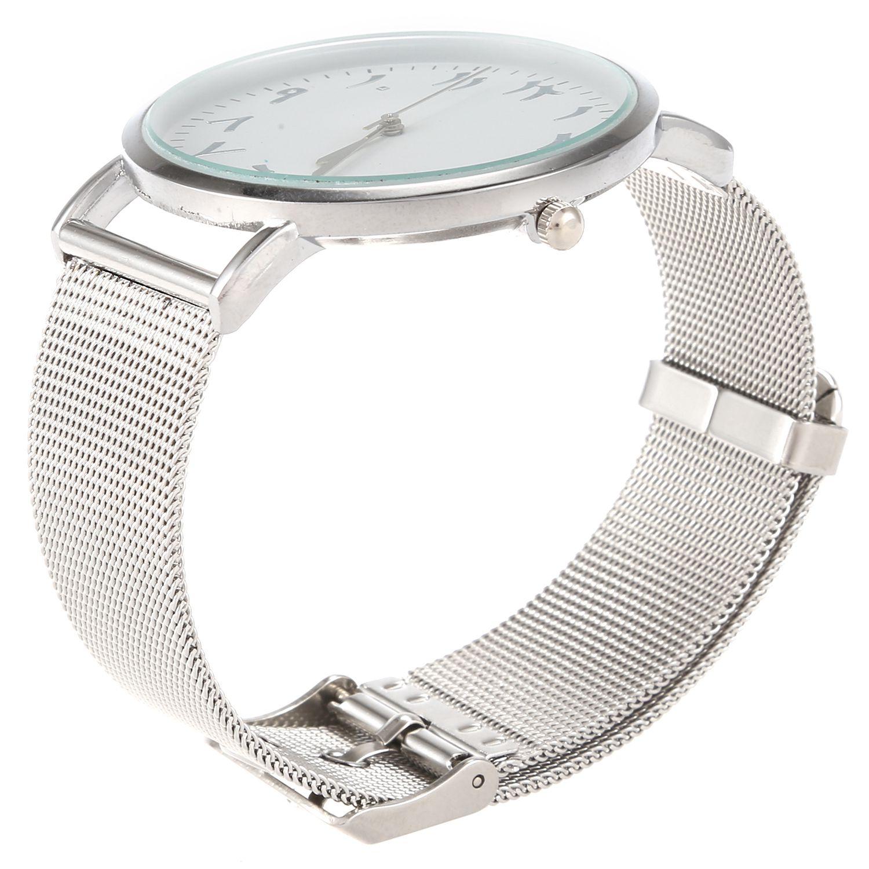 CCQ Brand Mesh Watch Unique Arabic Numbers Watches Casual Women Men Quartz Wristwatches C207