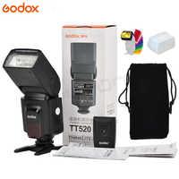 Godox TT520 II Flash TT520II avec Signal sans fil 433 MHz intégré + Kit de filtre couleur pour appareils photo reflex numériques Canon Nikon Pentax Olympus