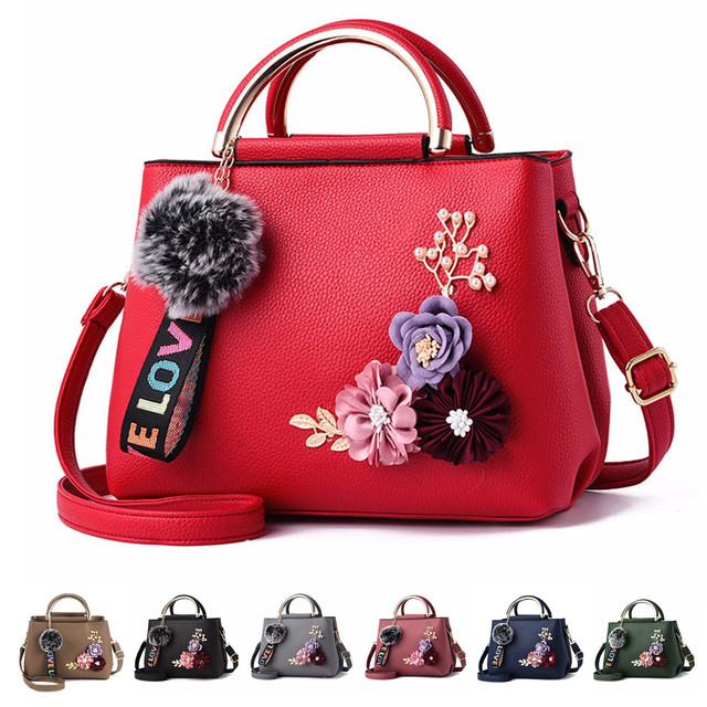 AEQUEEN Sac A Main Femme Color Flowers Shell Women's Tote Leather Clutch Bag Small Ladies Handbags Brand Women Messenger Bags 5