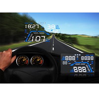 Hot Car HUD Head Up Display Q7 Car styling Overspeed Alarm GPS Speedometer KM/h MPH Digital Auto Driving Direction Distance