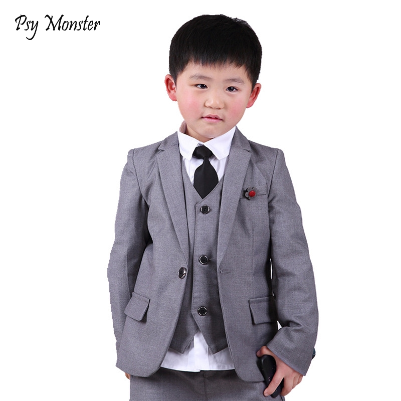 School Kids England Style Flower Boys Prince Formal Suit weddings costume enfant garcon mariage boys blazer Vest Pants 3Pcs F79 2016 new short women wallet new letter female purse fashion women bifold wallet clutch card holders purse short handbag