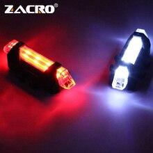 Luz LED Zacro para bicicleta, luz trasera, luz de seguridad trasera, Luz Portátil para ciclismo, estilo USB recargable o estilo de batería