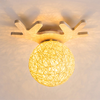 Chifres de Madeira Maciça moderna Acrílico Levou Luzes de Teto Para Sala de estar Sala de Estudo Quarto Moderno CONDUZIU a Lâmpada Do Teto Luminárias