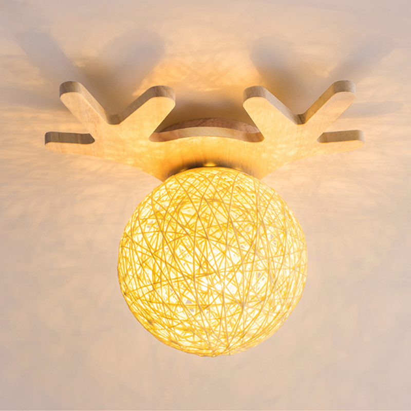 Modern Antlers Solid Wood Acrylic Led Ceiling Lights For Living Study Room Bedroom Modern LED Ceiling Lamp FixturesModern Antlers Solid Wood Acrylic Led Ceiling Lights For Living Study Room Bedroom Modern LED Ceiling Lamp Fixtures