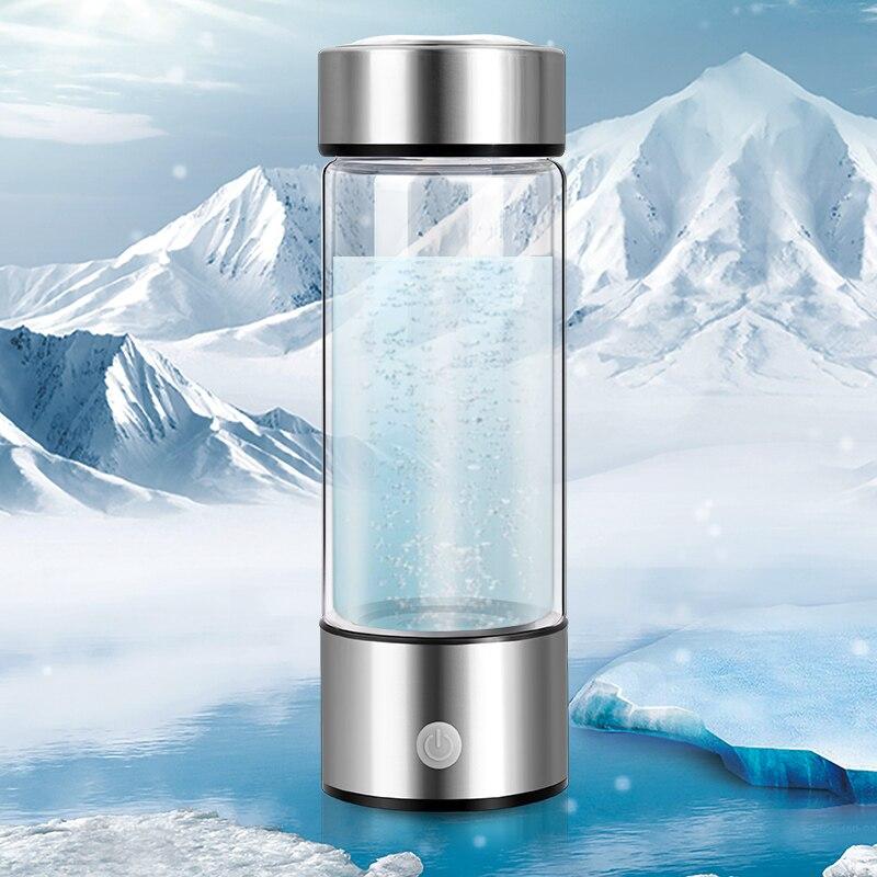 Sixième génération titane qualité hydrogène-riche tasse d'eau SPE électrolyse technologie ioniseur fabricant ORP bouteille d'hydrogène 420 ml
