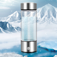 Sixth generation Titanium Quality Hydrogen Rich Water Cup SPE electrolysis technology Ionizer Maker ORP Hydrogen Bottle 420ml