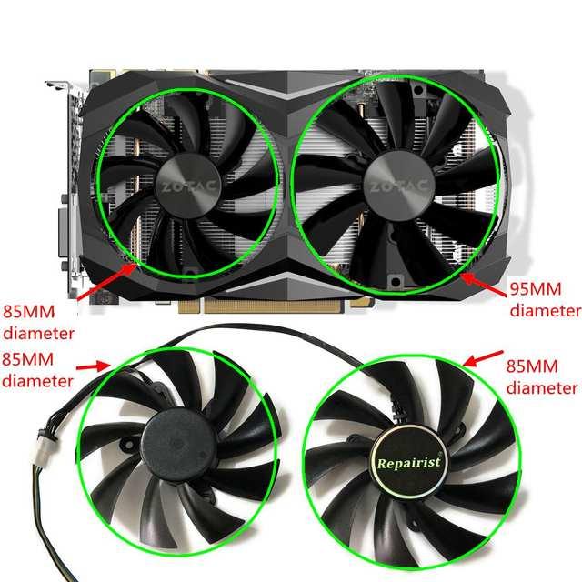 US $17 99 40% OFF|GTX1070 MINI VGA GPU Cooler 4Pin Graphics card fan For  ZOTAC GeForce GTX 1070 Ti Mini Video Card cooling as replacement-in Fans &