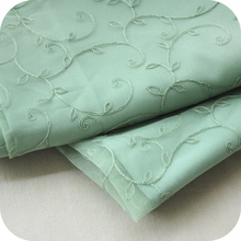 New green plant flower pastoral color matching system lace embroidery fabric lining cloth dress