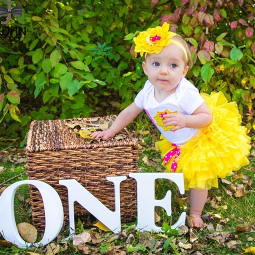 Infant Party Clothes Suit Tutu Ballet Fluffy Kids Clothes Baby Clothing Newborn Dresses Sets First 1st Birthday Dress Outfits