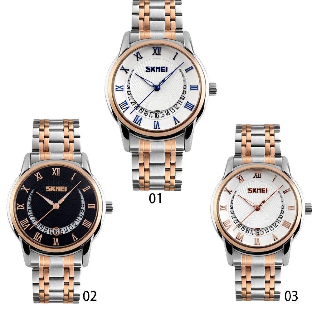 New Arrival Men Business Dress Quartz Watch Relogio Masculino Stainless Steel Watches SKMEI Date Waterproof Mens Wristwatches