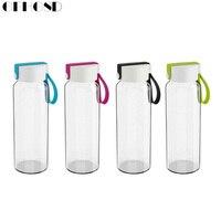 Du lịch drinkware Di chai Các thiết kế mới của chai thủy tinh chai Trong Suốt cho nước trà thủy tinh uống chai thể thao