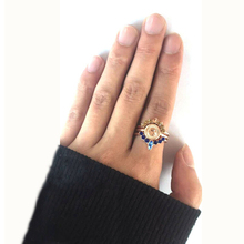 MISANANRYNE Punk Vintage Fashion Style 3pcs/lot Ring Accessories Crystal Finger Ring Set for Women Men Party Gift bijoux Jewelry