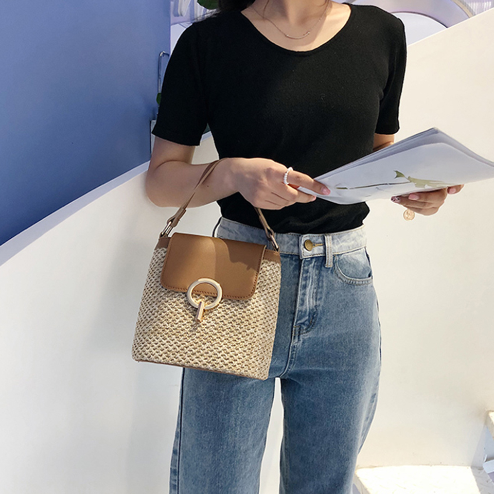 Straw Bucket Bag (15)