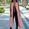 2016 Fashion Women Sexy Sleeveless Cardigan Long Vest Tops Casual Spring Autumn long Vest