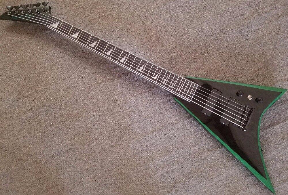 2018 haute qualité personnalisé jackson 6 cou de chaîne à travers FV guitare flying V électrique basse guitares, livraison gratuite.