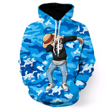 /One Piece Camouflage Printed Hoodies
