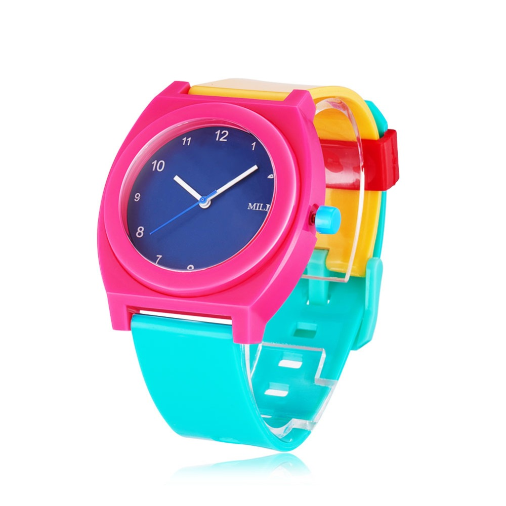 Children s Wrist Watches Plastic Students Sports Watches Birthday Gift For Kids Girls And Boys Colourful