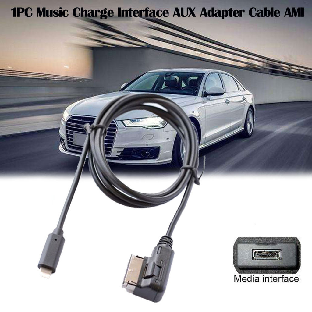 Car Accessories For Audi For iPhone 7/8/X Music Charge Interface AUX Adapter Cable AMI MMI MDI Auto Accessories(China)