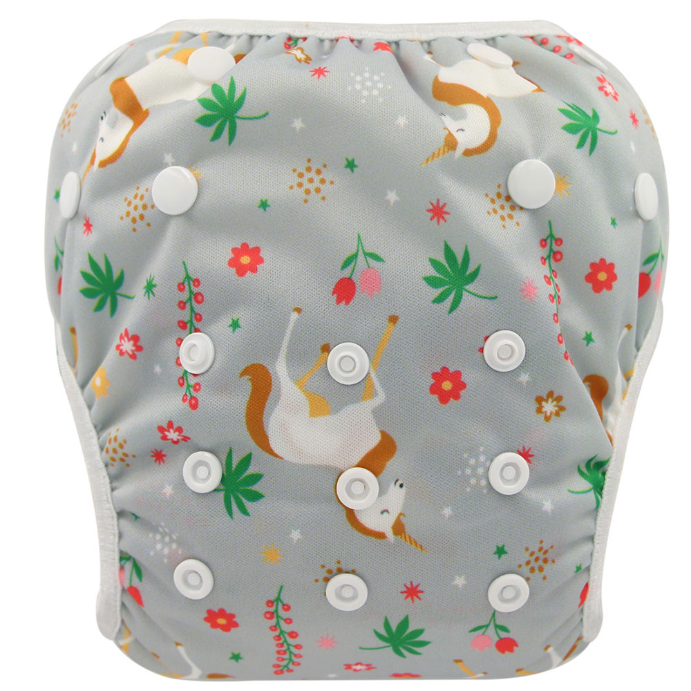 Ohbabyka Washable Swim Diapers For Babies Pool Diaper Newborn Swim Training Pants For Boy Swimsuit Reusable Nappies Swimwear