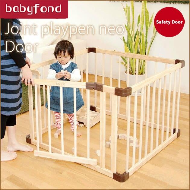 HK livraison gratuite marque bébé parc jeu bébé jeu clôture bois solide ramper garde-corps sécurité haies enfants garde panneau