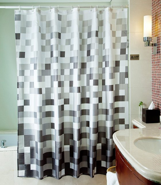 WARM TOUR Polyester Fabric Shower Curtain Rainy Day Polyester Curtain  Hospital U0026 Hotel With Hooks Ring