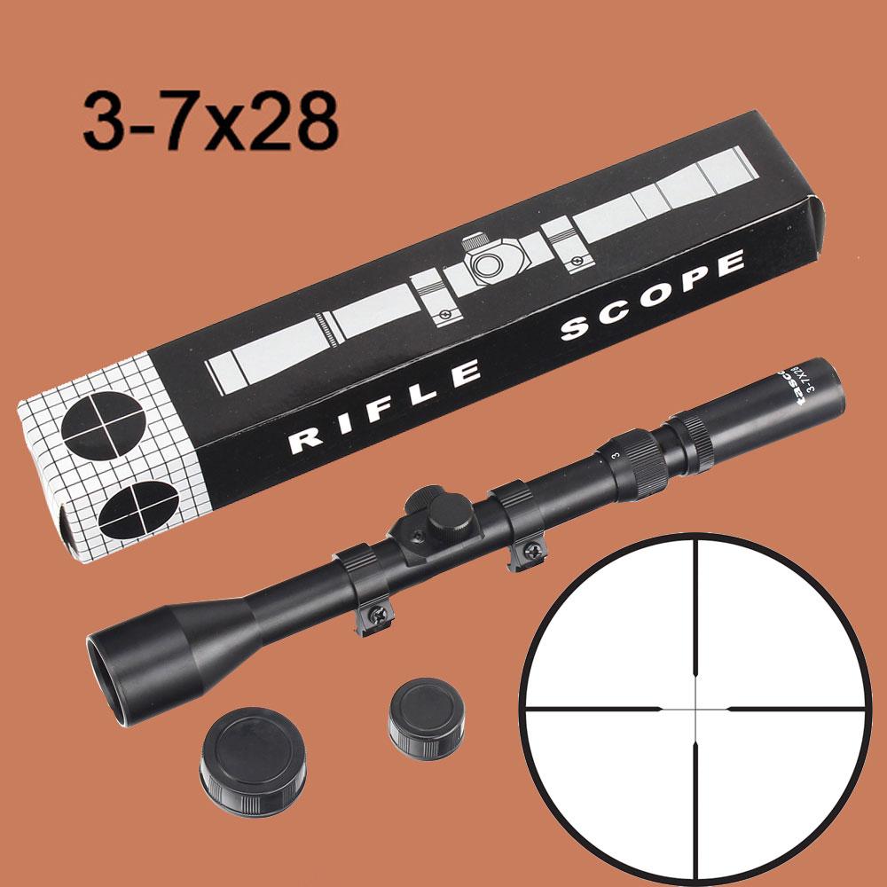 Hot Sale Lambul 3 7x28 Tactical Riflescope Optic Sniper Deer Rifle Handsfree Sport Bluetooth Black Gold Scope Hunting Scopes Airgun Outdoor Reticle Sight