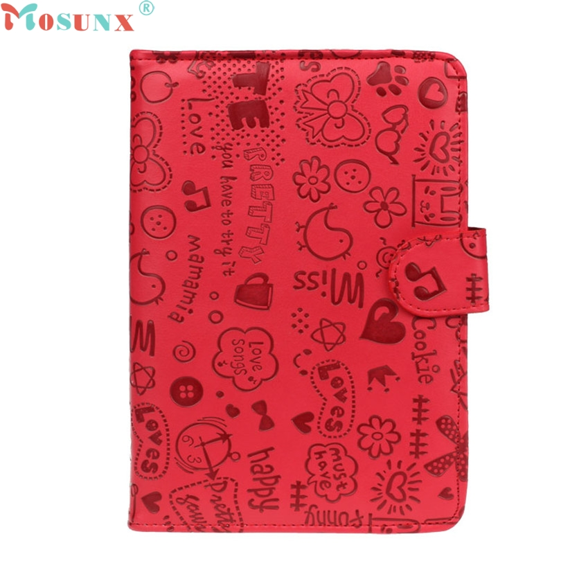 Mosunx Simpleston For 7 inch Android Tablet New Universal Leather Flip Stand Case Cover oct27 universal 7 inch tablet case for visual land prestige elite famtab 7inch pu leather flip stand case cover for mid andriod tablet