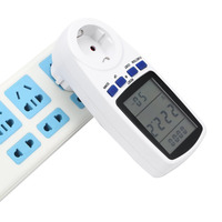 EU Plug LCD Energy Meter Voltage Wattage Current Monitor Watt Checker Saving Power Socket Analyzer Electronic