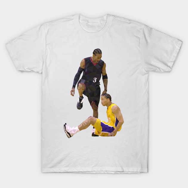 separation shoes 701bd f50b1 US $12.73 9% OFF|Allen Iverson Step Over Tyronn Lue Men's T Shirt  Clothing-in T-Shirts from Men's Clothing on Aliexpress.com | Alibaba Group