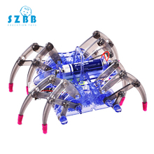 SZ STEAM DIY kids Science Experiment Electric Science Model Kits physics technology toys Spider Robot STEM Educational toys smart diy vacuum cleaner experiment science kids early development toys classic traditional science educational learning toy