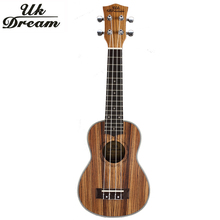 UK Dream 21 Inch Wooden Ukulele Guitar Closed Knob Zebra 4 String Acoustic Small Mini Guitar Ukulele Soprano US-223 acoustic custom guitar 41 inch full size 6 string basswood with guitar kit from us