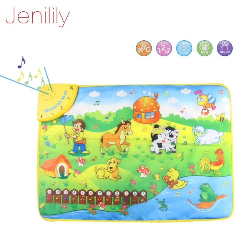 Jenilily JN1313NC 69x50cm Music Animal Voice Singing Piano Farm baby Play Gym Mat, Baby Game Carpet, baby Travel Gym Play