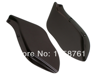 Smoke Dark Tinted Side Wings Windshield Air Deflectors For Harley Street Glide Touring FLHR FLHT Free