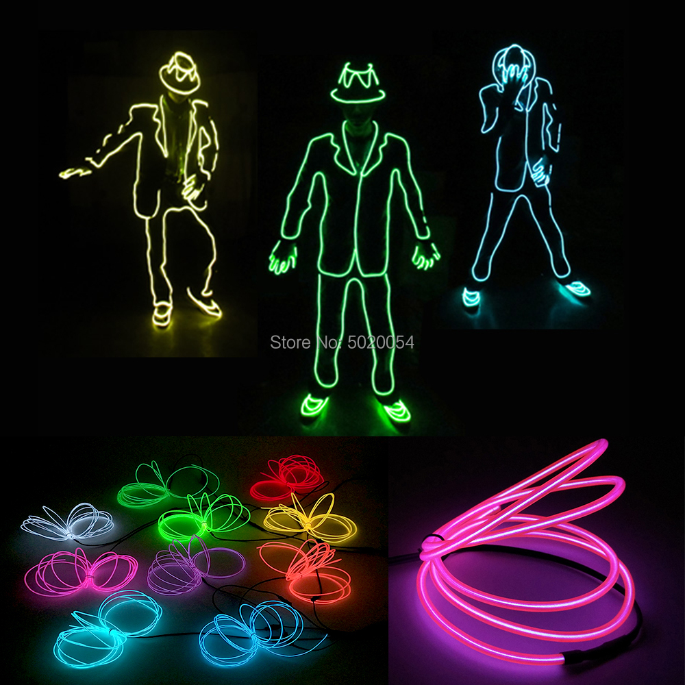 GZYUCHAO EL Luminous EL Wire Suit Led Dance Clothing Michael Jackson Cosplay Stage Costume Light Up Clothing For Show Costume